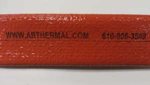 Firesleeve high temperature sleeve with custom printing marking labelling