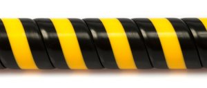 SafetyWrap high visibility spiral wrap for wire cable hose protection