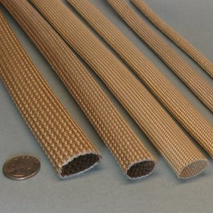 High Temperature Heat Flame Fire Resistant Saturated Fiberglass Anti-Fray Sleeve Wire Cable Hose Protection