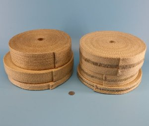 High Temperature Heat Flame Resistant Vermiculite Coated Fiberglass Woven Tape