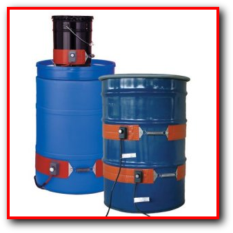 55 30 gallon metal poly drum insulated cover heater