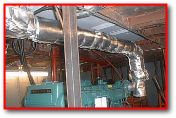 Marine Ship Boat Engine Generator Removable Exhaust System