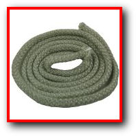 Graphite coated high temperature heat flame fire resistant fiberglass rope