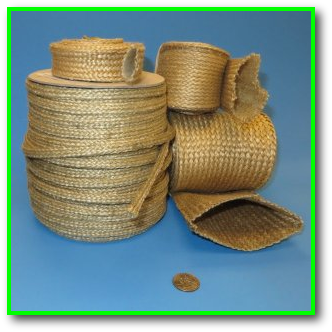 high temperature heat and flame resistant vermiculite coated fiberglass sleeve