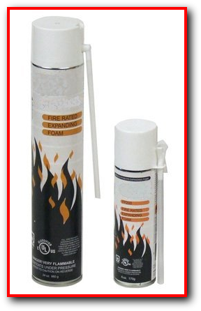 Fire Stop Expanding Foam UL1479 2 hour rating cable wire pipe penetration sealant