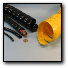 TuffWrap Plastic Spiral Wrap Abrasion and Wear Protection for Wires Cable and Hoses