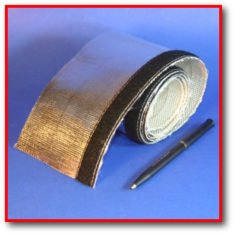 aluminum foil coated fiberglass radiant heat reflective sleeve with velcro for wire and cable and hose protection