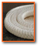 high temperature rope: heat and chemical resistant ptfe coated acrylic fiber square braided rope packing stuffing