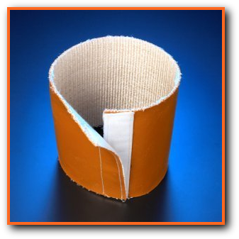 Heat Trace High Temperature Insulating Sleeve with Velcro Closure