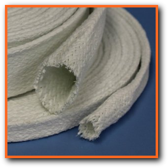 PTFE Coated Fiberglass Braided Sleeve Wire Cable Hose Protection