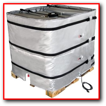 industrial bulk container tote tank bulk container heater insulated cover