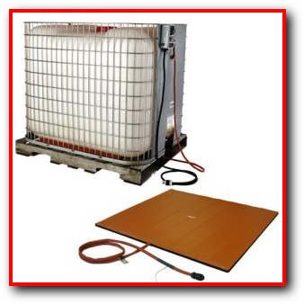 Industrial Bulk Container Tote Tank Insulated Cover Heater Pad
