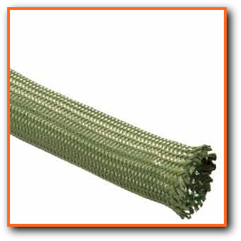 Braided Nomex Sleeve - High Temperature Heat Resistant Wire Cable Hose Protection