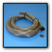 stainless steel braid abrasion wear protection wire cable hose lines