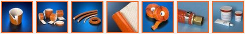 firesleeve silicone rubber coated sleeve tape rope fabric