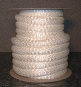 high temperature heat and flame resistant vermiculite coated fiberglass rope